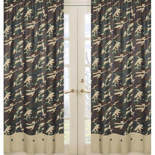 Camo Camouflage Semi-Sheer Rod pocket Curtain Panels (Set of 2) by Sweet Jojo Designs