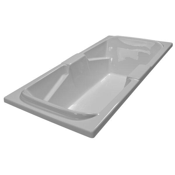 72 x 36 Soaker Arm-Rest Bathtub by American Acrylic
