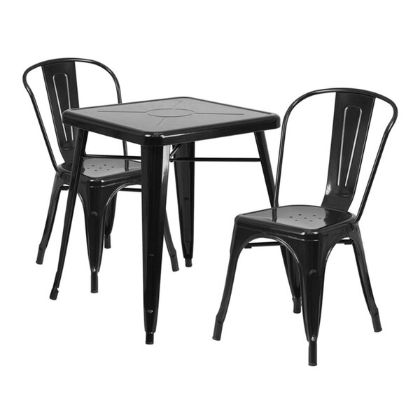 Guarino Indoor/Outdoor 3 Piece Dining Set by Williston Forge
