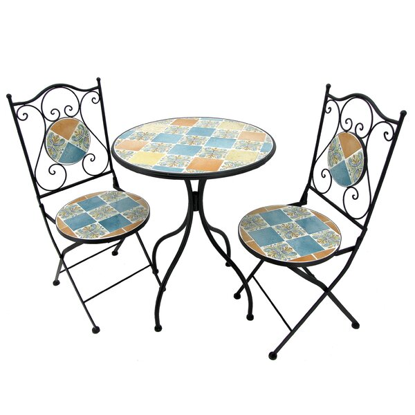 Glasco 3 Piece Bistro Set by Fleur De Lis Living