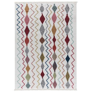 Affordable Rheba White Area Rug By Bungalow Rose