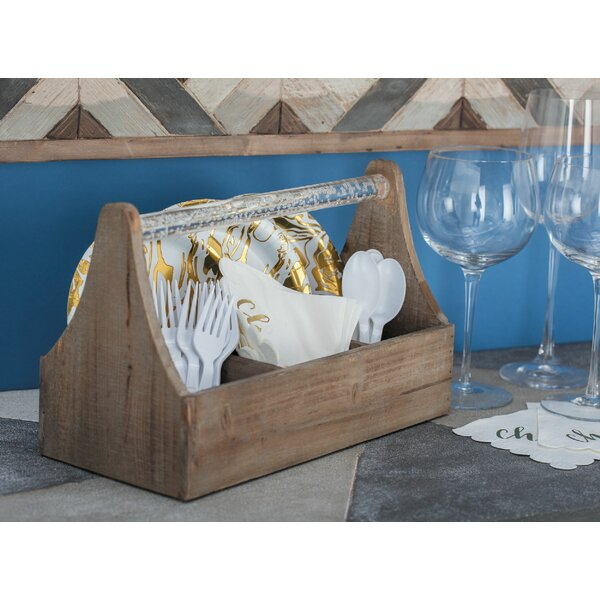 Ornelas Farmhouse Rectangular Wooden 4 Bottle Tabletop Wine Rack by Union Rustic