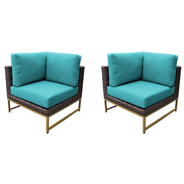 Sumpter Patio Chair with Cushions (Set of 2) by Wrought Studio