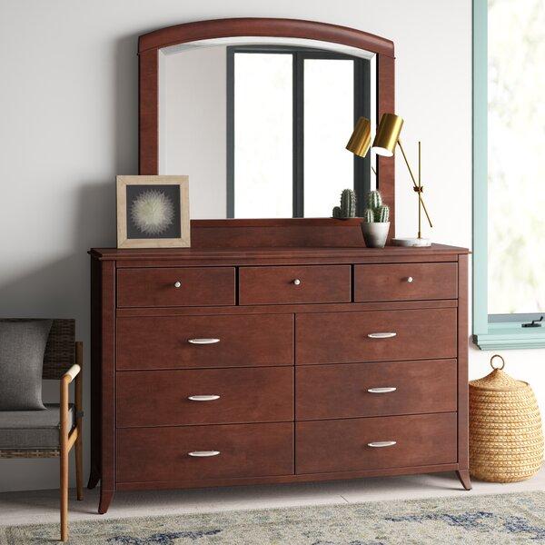 Travis 9 Drawer Dresser with Mirror by Mistana