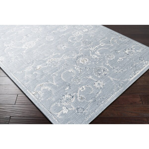 Navya White/Blue Area Rug by Ophelia & Co.