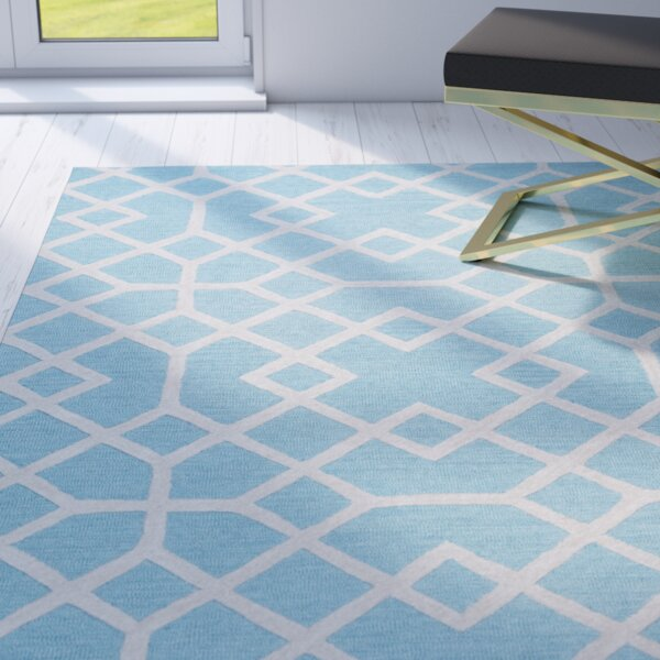 Pero Hand-Tufted Blue Area Rug by Willa Arlo Interiors