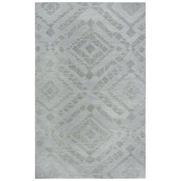 Phan Hand-Tufted Wool Gray Area Rug by Red Barrel Studio