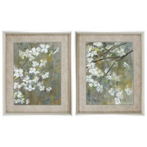 Dogwood in Spring 2 Piece Framed Painting Print Set by Propac Images