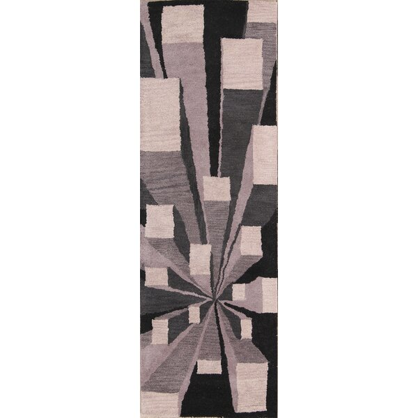 Kolten Hand-Tufted Wool Beige/Black Area Rug by Isabelline