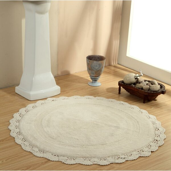Wingert Round Crochet Designer Bath Rug by Ophelia & Co.
