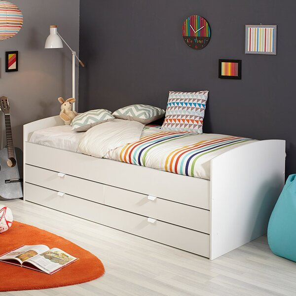 Snow European Platform Bed with Mattress by Parisot