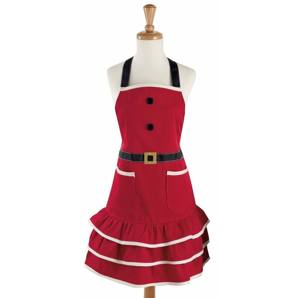 Cotton Mrs. Claus Apron by Design Imports