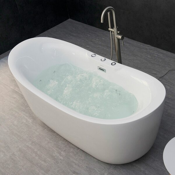 Higgenbotham Freestanding Combination Bathtub by Orren Ellis