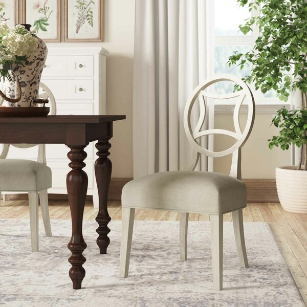 Criteria Upholstered Side Dining Chair in Gray by Bernhardt Bernhardt