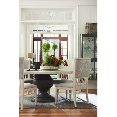 August Grove Fabric Solid Wood Dining Set All Dining Sets