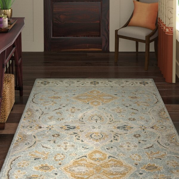 Nadir Hand-Tufted Slate Gray Area Rug by World Menagerie