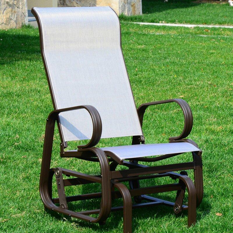 Swick Outdoor Mesh Fabric Patio Glider Chair