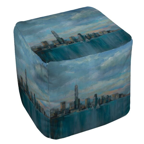Manhattan Tower of Hope Pouf by Manual Woodworkers & Weavers