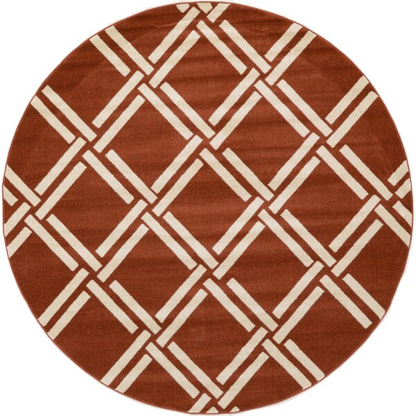 Storyvale Dark Terracotta Area Rug by Beachcrest Home