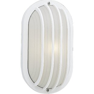 Compare Lengerdas 1-Light Outdoor Bulkhead Light By Highland Dunes