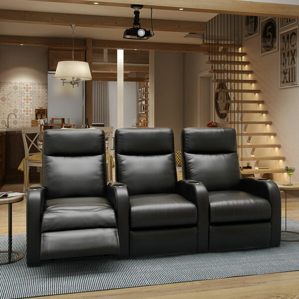 Lounger Home Theater Row Seating (Row Of 3) By Winston Porter