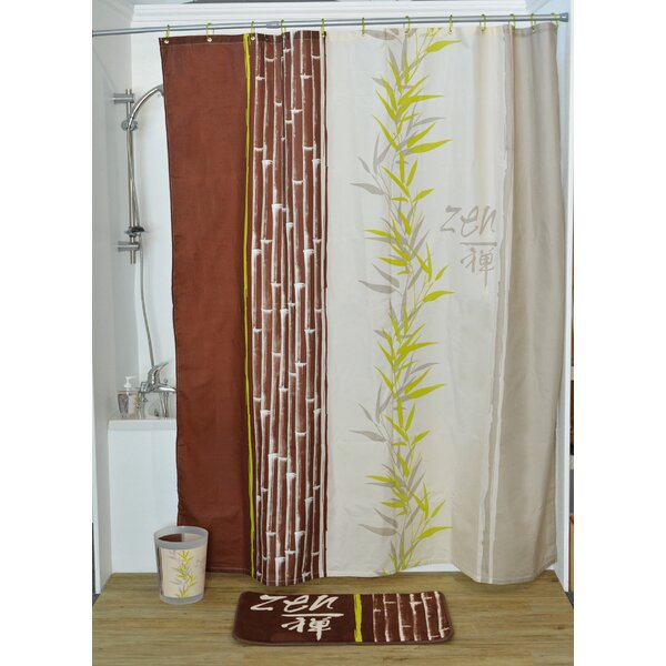 Jade Printed Shower Curtain by Evideco