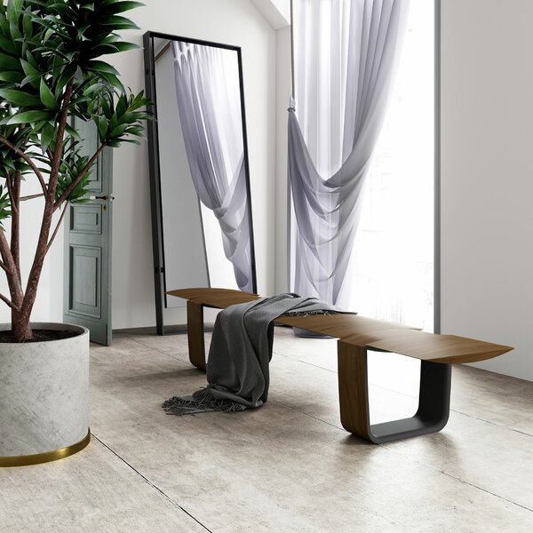 Addington Wood Bench by Modloft Black