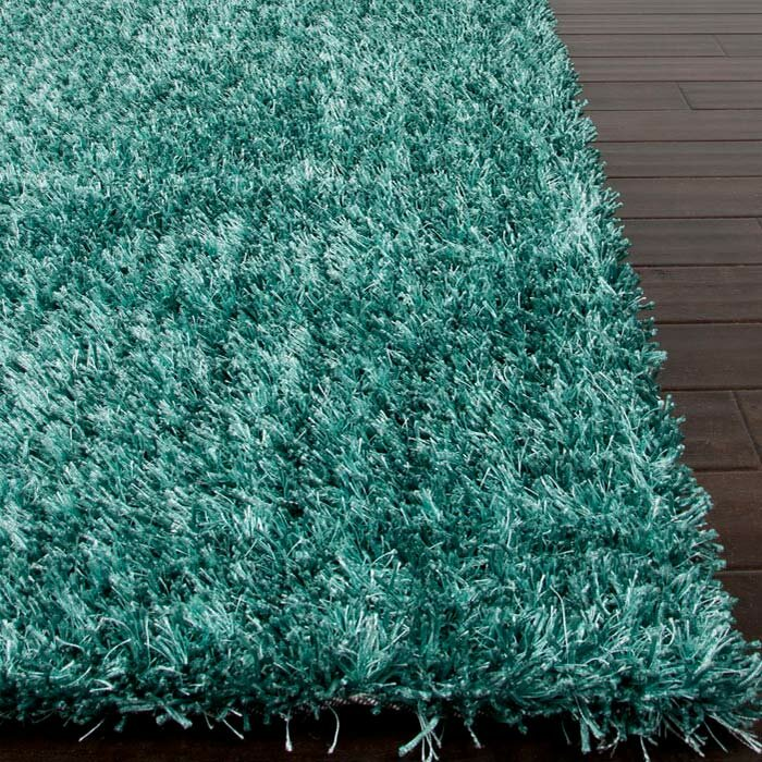 Superior Woodside Smoke Blue Shag Area Rug
