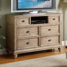 Margate 6 Drawer Wood Media Chest by Three Posts