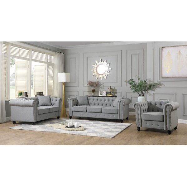 Dawley 3 Piece Living Room Set by Alcott Hill