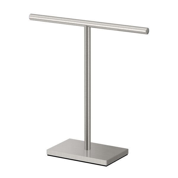 Rectangle Base T-Shape Countertop Towel Stand by Gatco