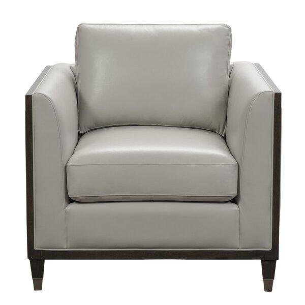 Dorlean Leather Accent Armchair By Brayden Studio