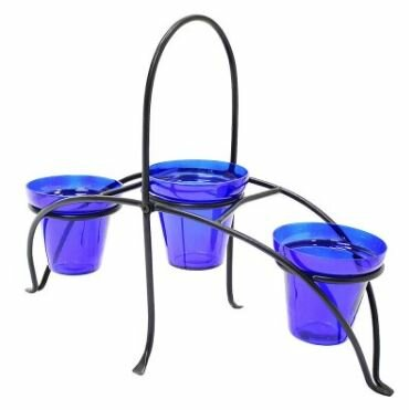 Glass Pot Planter with Stand by ACHLA