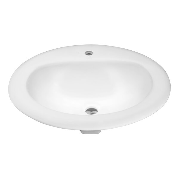 Cadenza Ceramic Oval Drop-In Bathroom Sink with Overflow by ANZZI