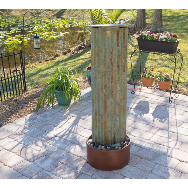 Natural Stone Floor Fountain by Wildon Home ®