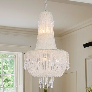 Mcglothin Draping Pearls 5 Light Crystal Chandelier