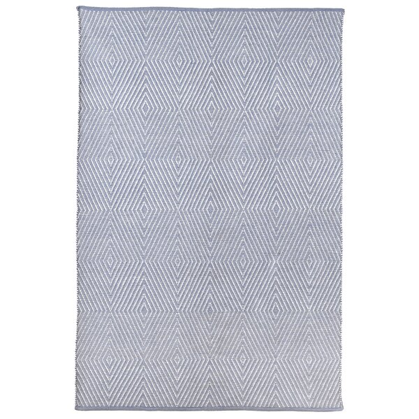 Criswell Hand-Woven Cotton Blue Area Rug by Wrought Studio