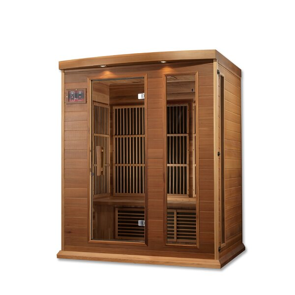 Luxury Series 3 Person FAR Infrared Sauna by Dynamic Infrared