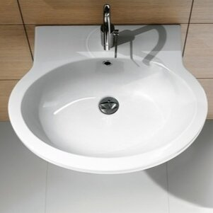 Panorama Ceramic 22 Wall Mount Bathroom Sink with Overflow by GSI Collection