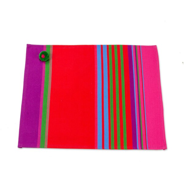 Bruckner Vibrant Countryside Cotton Placemat (Set of 4) by Bloomsbury Market