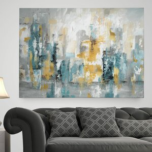 City Views II  Painting Print on Wrapped Canvas   Canvas Art Prints   Paintings You ll Love   Wayfair. Living Room Paintings. Home Design Ideas
