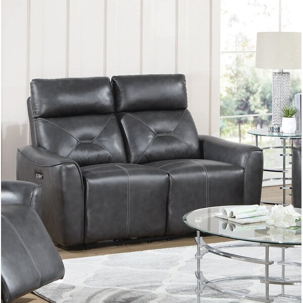 Excellent Reviews POWER^2 LOVESEAT, CHARCOAL by Coaster by Coaster