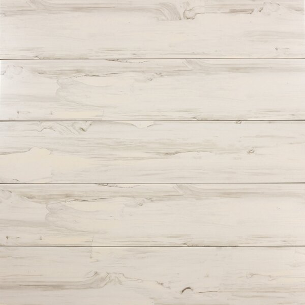 Artisan Wood 8 x 40 Ceramic Wood Look Tile in White Oak by Abolos