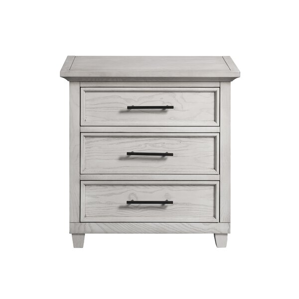 Letterly 3 Drawer Nightstand by Charlton Home