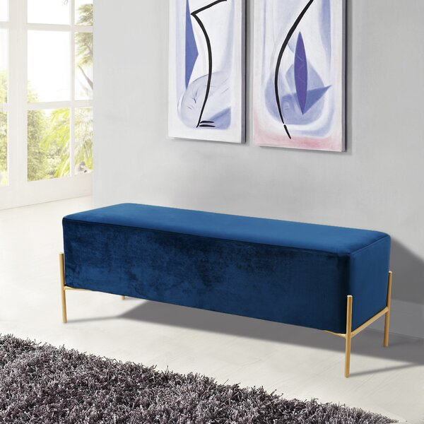 Fresnel Upholstered Bench by Modern Rustic Interiors