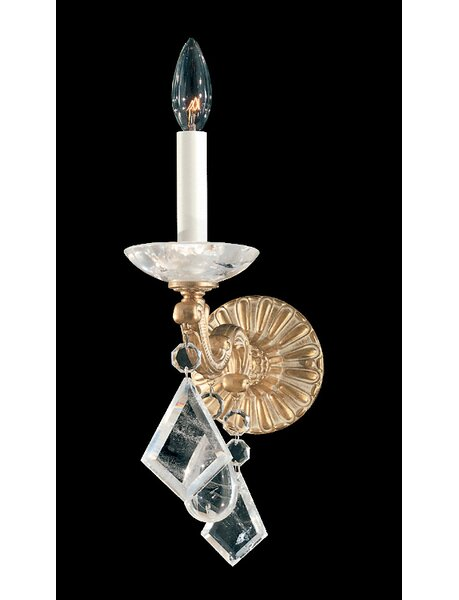 La Scala Rock Crystal 1-Light Candle Wall Light by Schonbek