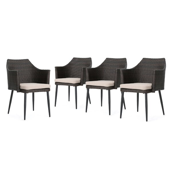 Rivera Patio Dining Chair with Cushion (Set of 4) by Ivy Bronx