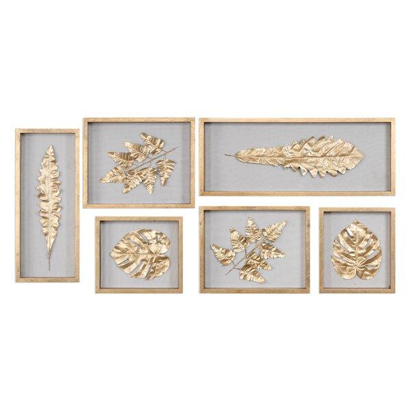 6 Piece Leaves Shadow Box Wall Décor Set by Bay Isle Home