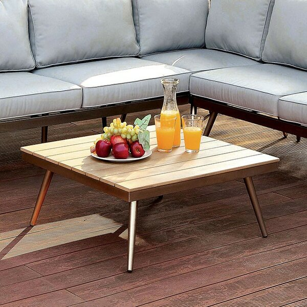 Cotton Aluminum Coffee Table by Brayden Studio