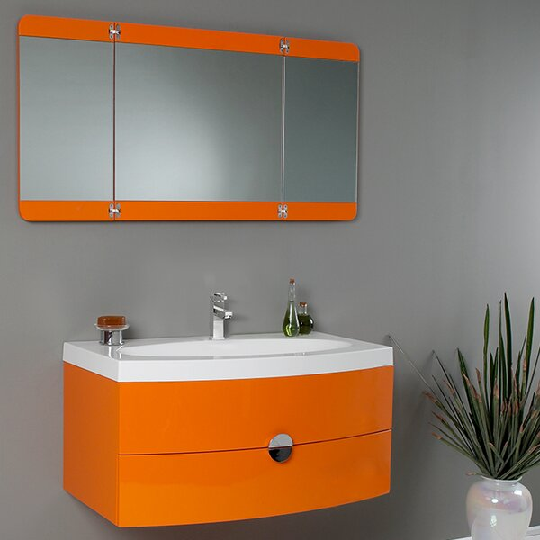 Lucido 36 Single Energia Modern Bathroom Vanity Set with Mirror by Fresca